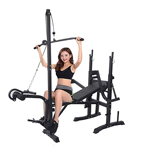 Dporticus Weight Bench 660LBS Multi-Function Adjustable Weight Lifting Bench with Leg Developer Workout Bench Split Type Ideal for Indoor Exercise