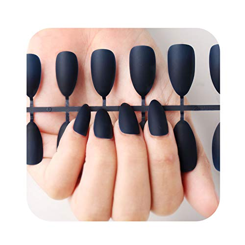 (Nail Art Manicure 24pcs Matte Tips For False Nails Fake Nails Forms For Extension Manicure Art for False Nails,N5284-12)