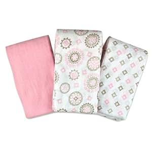 SwaddleMe Muslin Blanket, Floral Medalion, 3-Pack (Discontinued by Manufacturer)