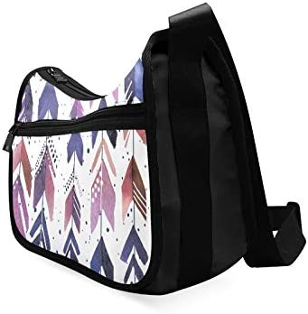 Arrowhead Multicolor Pen Messenger Bag Crossbody Bag Large Durable Shoulder School Or Business Bag Oxford Fabric For Mens Womens