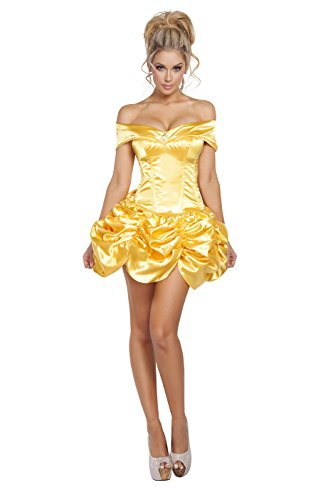 Yellow Corset (Roma Costume Women's 2 Piece Foxy Fairytale Cutie, Yellow, Small)