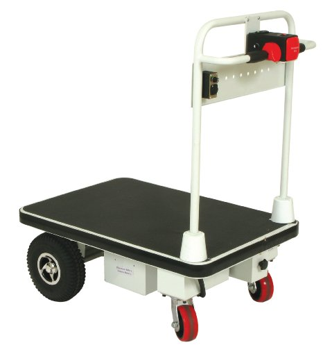 Wesco-272413-Steel-Power-Drive-Platform-Truck-with-43-Handle-1100-lb-Capacity-36-x-24