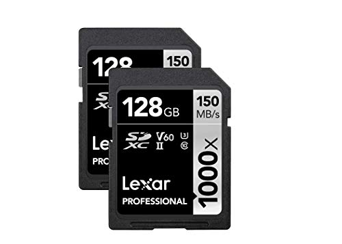 Lexar Professional 1000x 128GB (2-Pack) SDXC UHS-II Cards