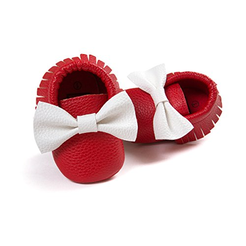etrack-online Infant Toddler Moccasins Prewalker zapatos de cribe PW Talla:0-6 meses RW