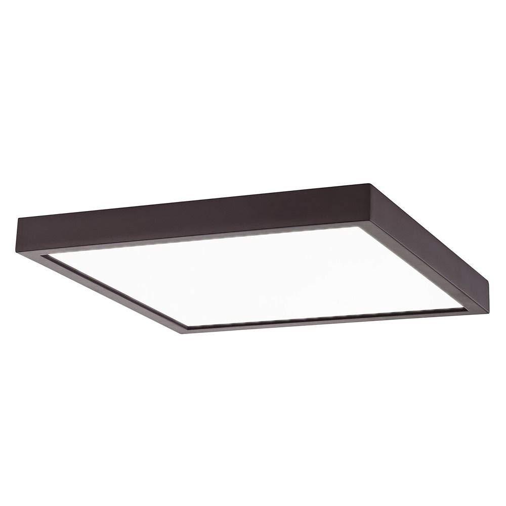 Flat LED Light Surface Mount 10-inch Square Bronze 3000K 1495LM