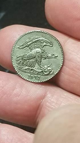 Scarce Type (1837 FEUCHTWANGER CENT- SHARP AU+ DETAILS -VERY SCARCE PRE-CIVIL WAR TYPE COIN-VERN'S CARD & COIN cent Au)