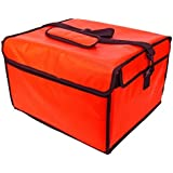 Insulated Pizza Delivery Bag, 16 by 14 by 10-Inch, Red