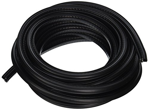 Trim-Lok DDA1549-25 EPDM Dual Durometer Rubber/Metal Carrier Coextruded Trim Seal with Side Bulb, Fits Edge  0.040