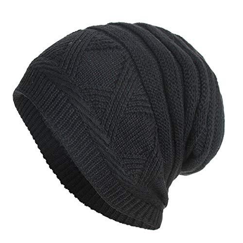 URIBAKE ❤ Fashion Unisex Knitted Cap Fleece Padded Hedging Head Hat Beanie Outdoor Ski Hat ()