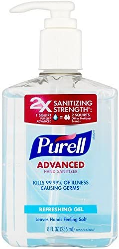 Amazon Com Purell Advanced Hand Sanitizer Refreshing Gel 8 Oz