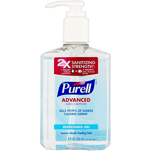 Gojo 9652-12 Purell Instant Hand Sanitizer Table Top Pump Bottle - 8 fl oz GOJ965212CMREA