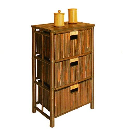 Zero Emission World Bamboo 3 Shelf Drawer, Espresso by Zero Emission World