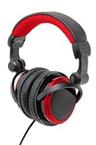 Connectland CL-AUD63063 Foldable DJ Style Headphones Over The Ear Style, Red