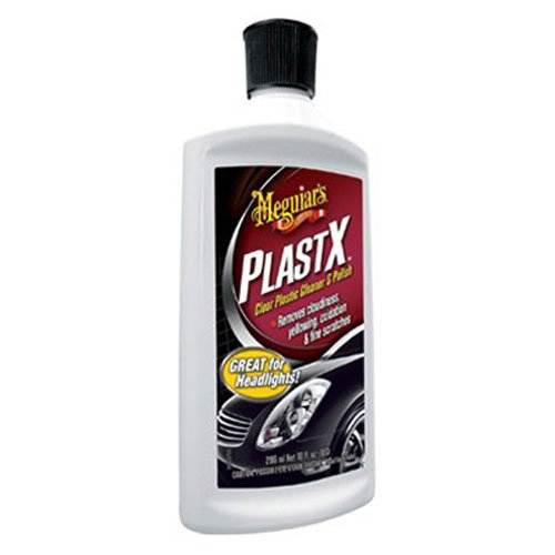 Meguiar's G12310 PlastX Clear Plastic Cleaner & Polish - 10 - Scratches Plastic Clear Remove