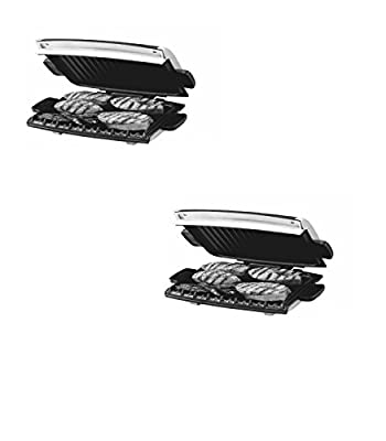 12-in L x 8-in W Non-Stick Contact Grill - George Foreman Model - GRP99 - Set of 2 Gift Bundle