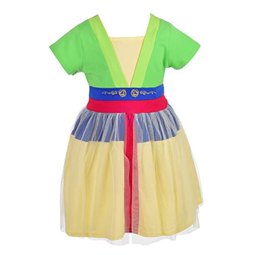 Dressy Daisy Mulan Dress for Toddler Girls Halloween Fancy Party Costume Dress Size 3T -
