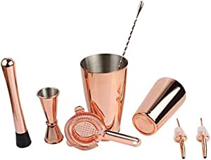 Exquisite Cocktail Making Set Cocktail Accessories Professional Cocktail Shaker Set with Jigger Strainer Muddle & Spoon Gift