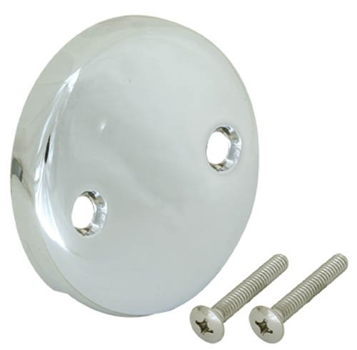 EZ-FLO 35245 Overflow Face Plate Two-Hole, Chrome ()