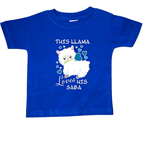 Saba Apparel - inktastic - This Llama Loves His Saba Baby T-Shirt 6 Months Royal Blue 2ebc4