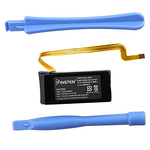 Insten Li-Ion Replacement Battery Compatible With Apple iPod Video 5th Generation 60G / (Ipod Touch Battery Replacement)