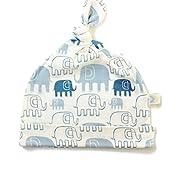 Bestaroo Baby Boy Hat in Blue Elephants, Blue Elephants, Newborn / 6 Months