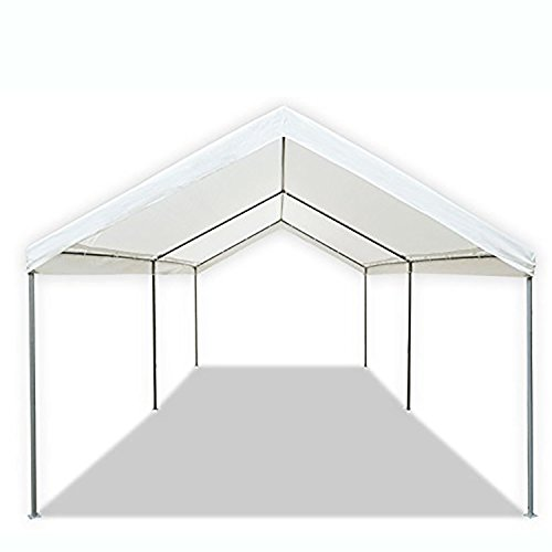 200 Sq Ft Coverage - Waterproof 10' X 20' Domain Carport Garage, Durable Powder Coated Steel Frame, 6-Leg Construction with 1.375