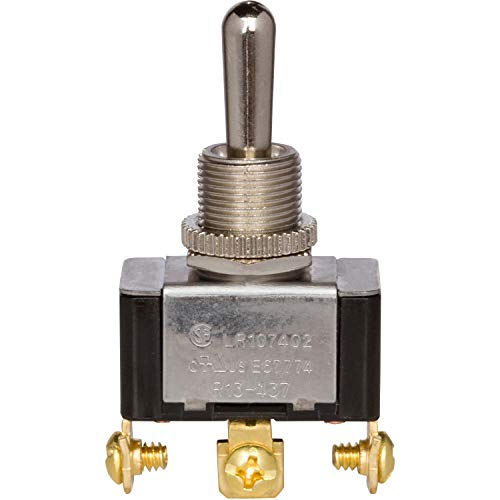 Morris Products Momentary Contact Toggle Switch - Heavy Duty, SPDT 3 Screw Terminals - On-Off-(On) - 1500V Dielectric Strength, 100,000 Mechanical Life Cycles - CURus Listed - 1.13 x .63 x .70