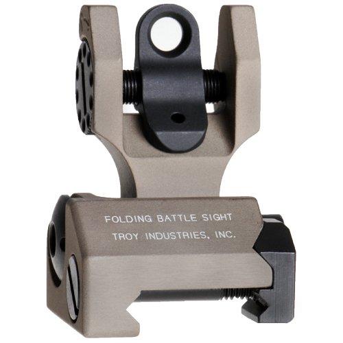 Troy Rear Sight - Troy Industries Folding Tritium Battle Sight Rear (Flat Dark Earth)
