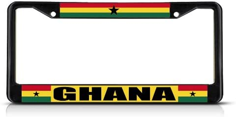 Fastasticdeals Ghana Flag Country License Plate Frame Tag Holder Cover