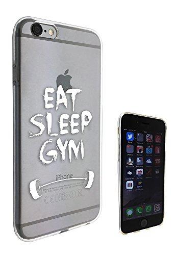 c0153 - Eat Sleep Gym Design Pour iphone 5C Protecteur Coque Gel Rubber Silicone protection Case Coque