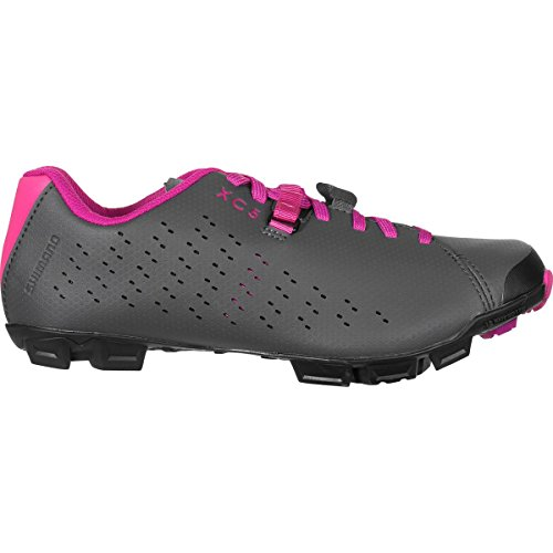 Shimano SH-XC5 Mountain Bike Shoe - Women's Grey/Magenta, 41.0 by Shimano