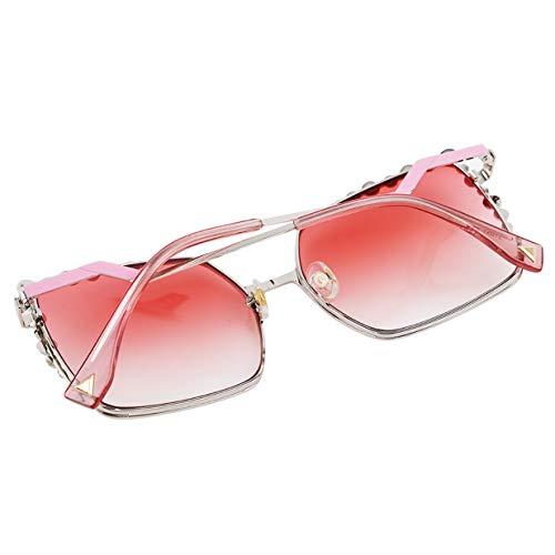 Carré Lentille EJY lunettes Femelle Femmes soleil Rose de dégradé Des Lunettes ZBwBRqU4