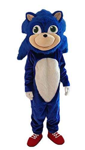 100% Real Photos Adult Size New Sonic X Hedgehog Mascot Costume Halloween Dress Deguisement Mascotte Cartoon -