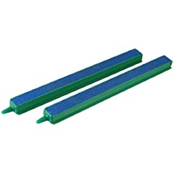 Jardin Fish Tank Air Bubble 2-Piece Air Stone Bars, 8-Inch, Green/Blue