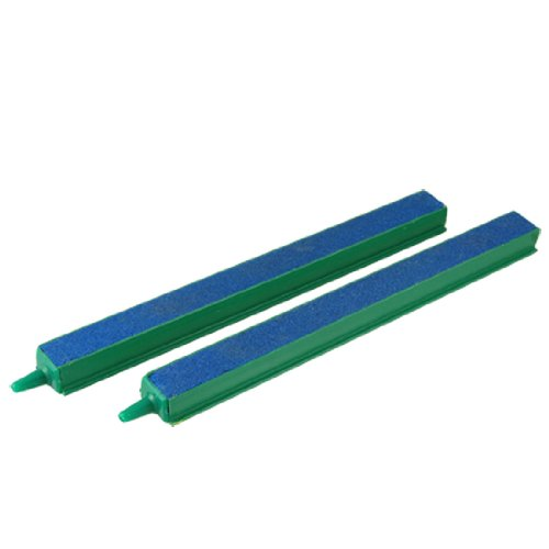 Jardin Fish Tank Air Bubble 2-Piece Air Stone Bars, 8-Inch, Green/Blue ()