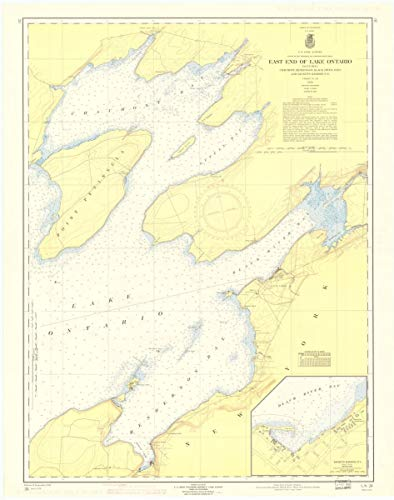 Vintography Gallery Wrap Art Canvas 18 x 24 Image of 1959 Nautical Chart East END of Lake Ontario Including Chaumont, Henderson, Black River Bays and SACKETS Harbor, N.Y. by Lake Survey NY (Nautical Ontario Charts)