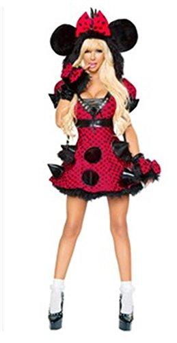 [Mocona Christmas adult female Mickey mouse clothing] (Female Mickey Mouse Costumes)