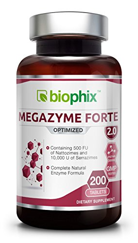 Megazyme Forte 200 Tabs – Natural Plant Proteolytic Enzymes | Digestive Support | Nattozimes | Serrazimes | Immune System Support | Detoxification Boost Review