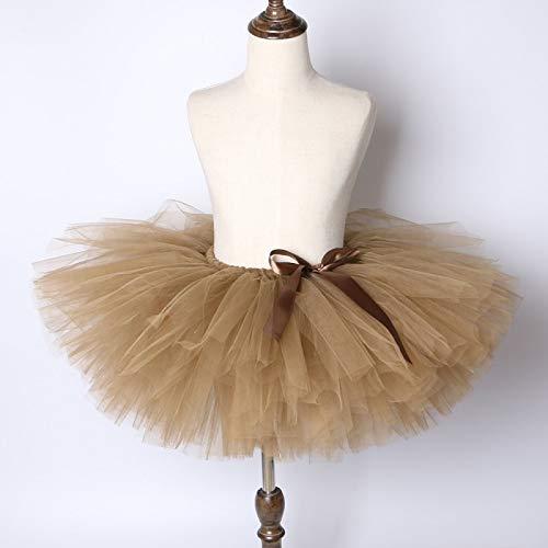 TreeMart Brown Girl Skirt Tutu for s Princess Birthday Party Ballet Dance Skirt Girls Fluffy Pettiskirt ren Girls Tutu Skirt by TreeMart