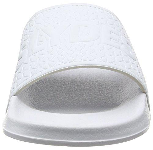 Slydes Logo M, Chanclas para Hombre Blanco - blanco