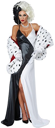 (California Costumes Women's Cruel Diva Adult Woman Costume, Black/White/red,)