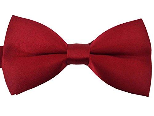 SYAYA Male Men's boy's women Classic Pre-Tied Formal Tuxedo Mens boys bow Tie Bowtie Jacquard Ties Adjustable Party Wedding Necktie MLJ01 (Red Bow Tie)