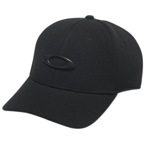 Custom Fit Stretch Hat - Oakley Men's Tincan Cap Hat, Black/Carbon Fiber, L/XL