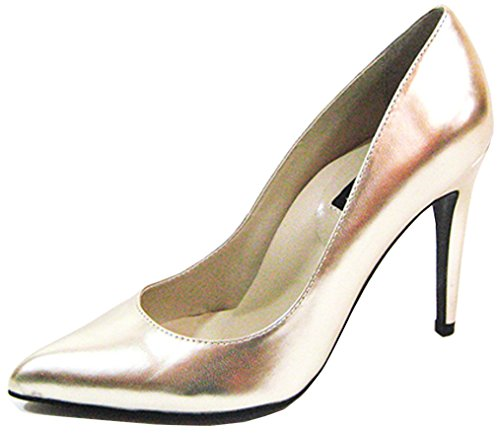 Pu Neon 14 Dorado 51 Jessica US Heel 's metálico Fuchsia Highest PU Women M Pump xqY6vSv