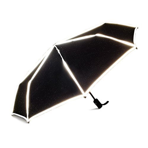 World's Smartest Reflective Compact Umbrella with patent-pending ReflectSafe design by ReflectSafe Umbrella