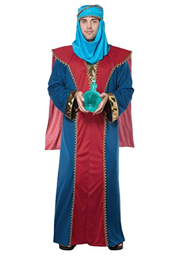 California Costumes Men's Balthasar, Wise Man (Three Kings) - Adult Costume Adult Costume, -Red/Blue, Large/Extra -