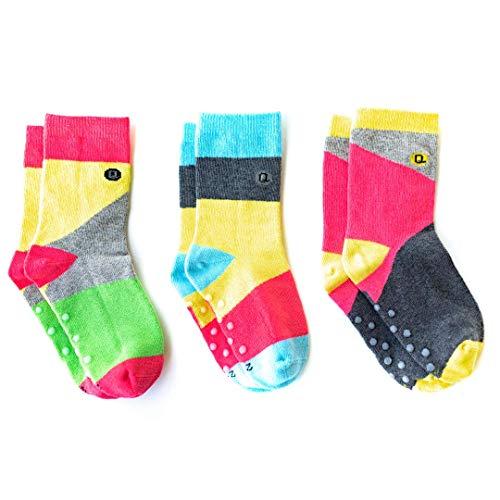 Organic Toddler Socks with Grips, toddler and kids socks, fun kids socks, colorful socks -
