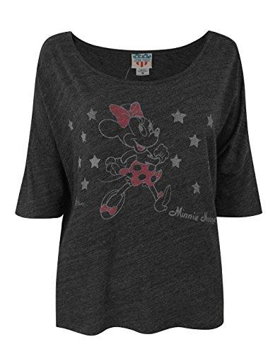 Junk Food Minnie Mouse Stars Women's T-Shirt (S)