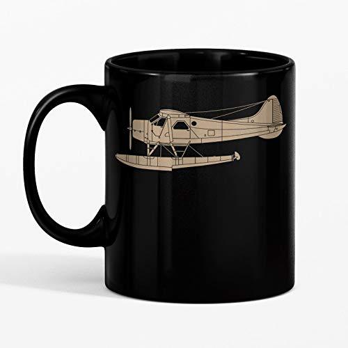 SAYOMEN - de Havilland Canada (DHC-2) Beaver MUG 11oz Unique coffee mug, Ceramic coffee mug, Gift for Men or Women, Funny Mug, Dad Birthday Gift