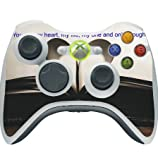 Sticker Skin Print Old Paper Book Quote Romance Heart Printed Design Xbox 360 Wireless Controller Vinyl Decal Sticker Skin by Smarter Designs